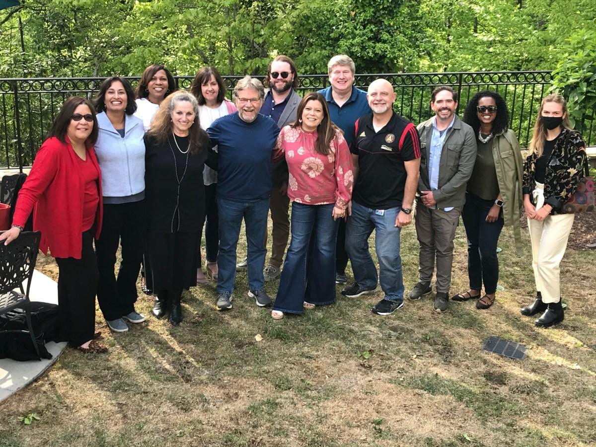 the atlanta civic circle team gathers for a photo